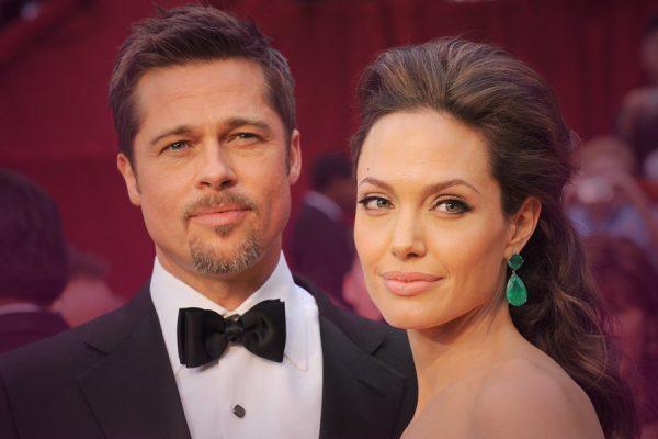 Brad and Angelina on the rocks