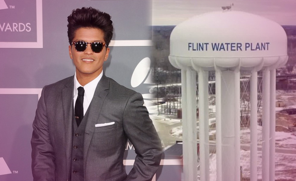 Bruno Mars Donates $1 Million To Help Victims Of Flint Water Crisis