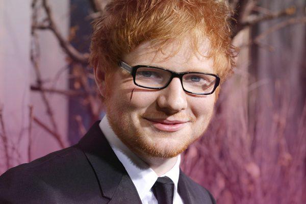 Ed Sheeran face cut