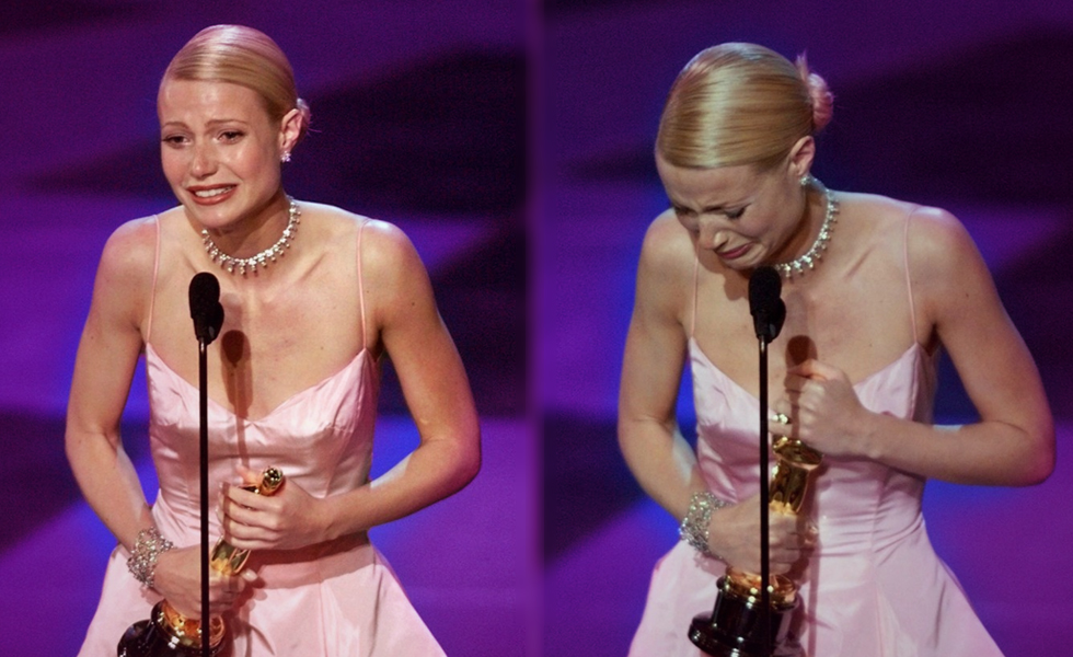 Gwyneth Paltrow Oscar acceptance speech still going strong!