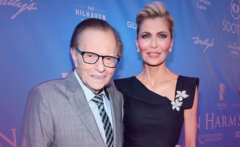 Have Larry King and wife Shawn kissed and made up?
