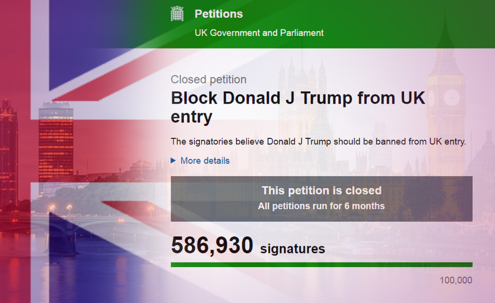Has London welcomed Donald Trump?