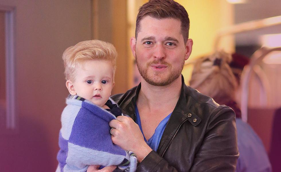 Michael Buble Son home for Christmas