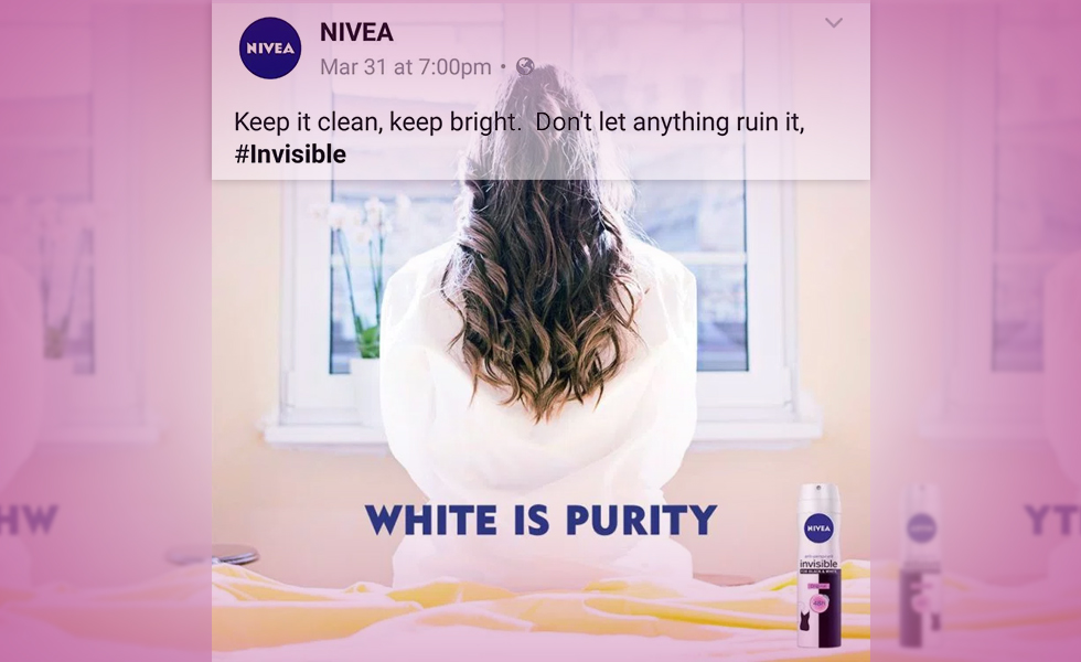 Why is Niveas white is pure ad controversial