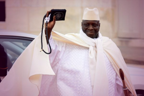 Former Gambian President Yahya Jammeh forced to step down.