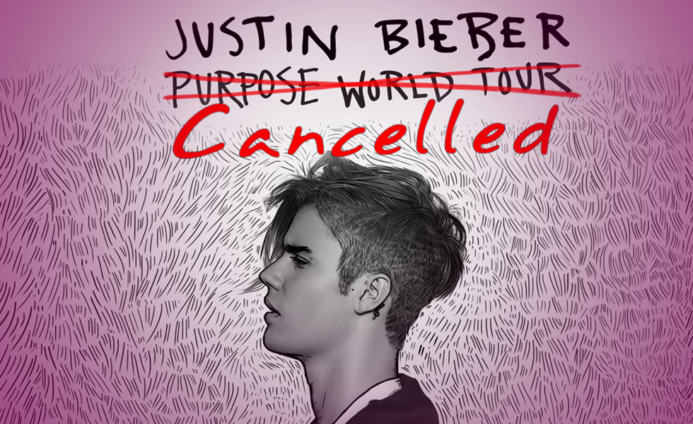 "Justin Bieber Just Canceled The Remainder Of His "" Purpose "" World Tour"