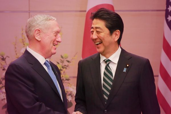 ' Mad Dog ' Mattis offers assurances to Japan's Prime Minister.