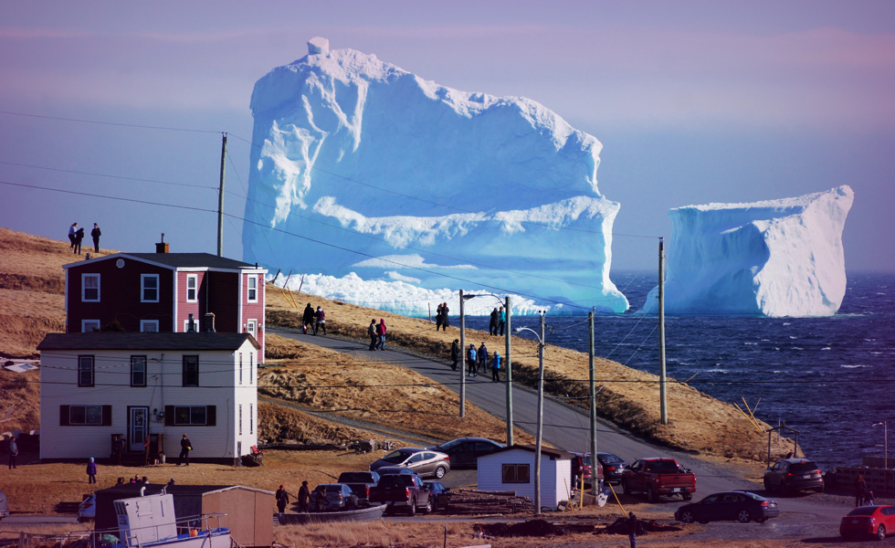 Giant iceberg off the shores of Canadian town