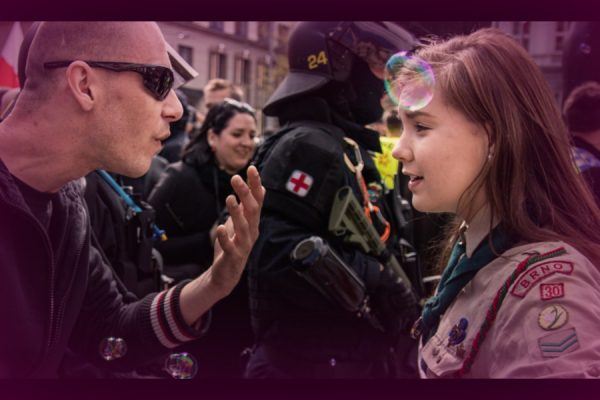 Girl Scout Smiling in Face of a Neo-Nazi Is a Total Hero