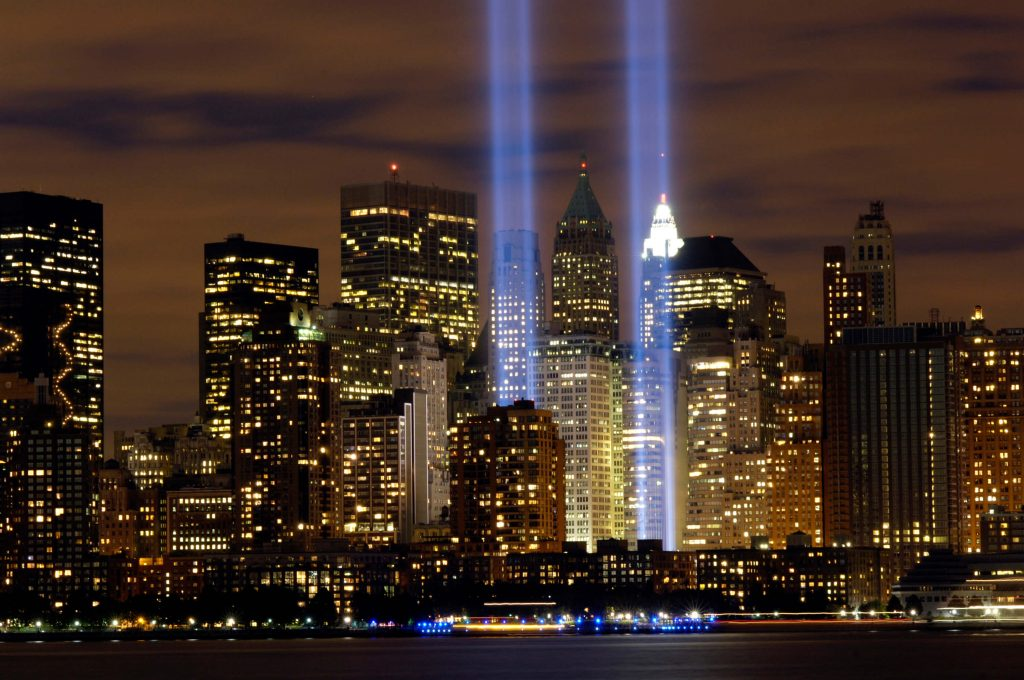 Twin Towers of light